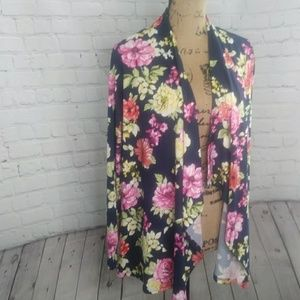 Rags and Couture Sweaters - NIP Rags & Couture Draped Floral Cardigan M
